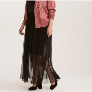 New W Tags! Torrid 2x Black Mesh Maxi Skirt